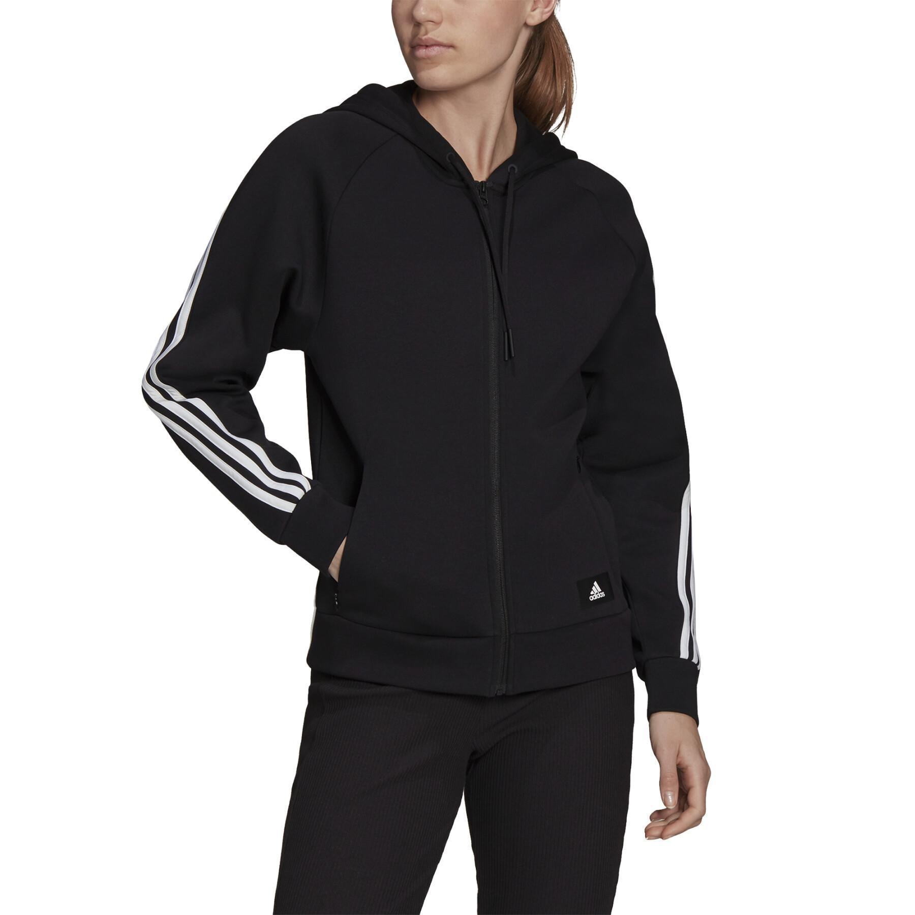Future Icons 3-Stripes Hooded Track Top XS